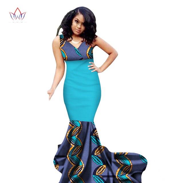 2018 Summer Africa Dresses For Women Mermaid Long Dresses Formal