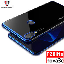 "For Huawei P20 Lite Case Huawei P20 Pro Cover Nova 3E Soft TPU Protection Laser Plating Crystal Full Cover For Huawei P20 5.8""(China)"