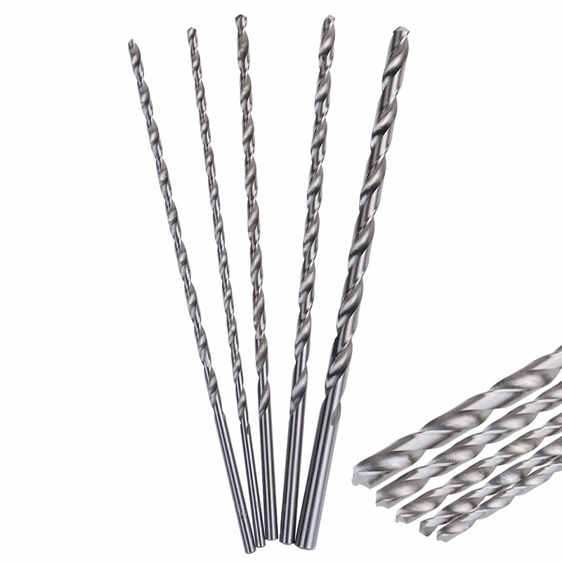 4-8mm HSS Twist Drill Bit Extra Long 200mm Straight Shank Auger For Metal Plastic Power Tools Wood Metal Drilling Tool