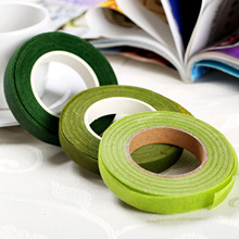 Dia 12mm 30 yard Self-adhesive Tape Florist Stem Tape Wire Floral Work Resealable Elastic Tape Wrap Stem Garland Wreaths gr1 titanium wire dia 0 12mm 1kg free shipping