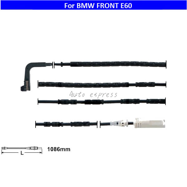 Sensor de Desgaste De Pastillas de Freno delantero 34356764298 para 04-10 BMW 525i 530i 545i 550i M5 M6