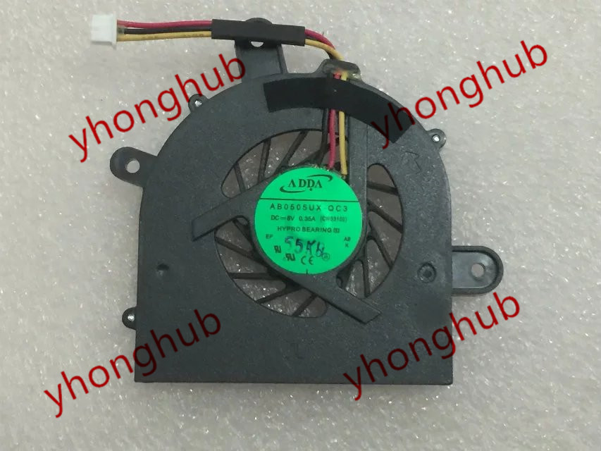 ADDA  AB0505UX-QC3, (CWS3100) DC 5V 0.35A 3-wire 3-pin 40mm Server Blower cooling fan vitek vt 1961 b