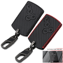 4 Buttons Carbon Fiber Style Leather Car Styling Key Cover Case Protector For Renault Clio Logan Megane 2 3 Koleos Scenic Card