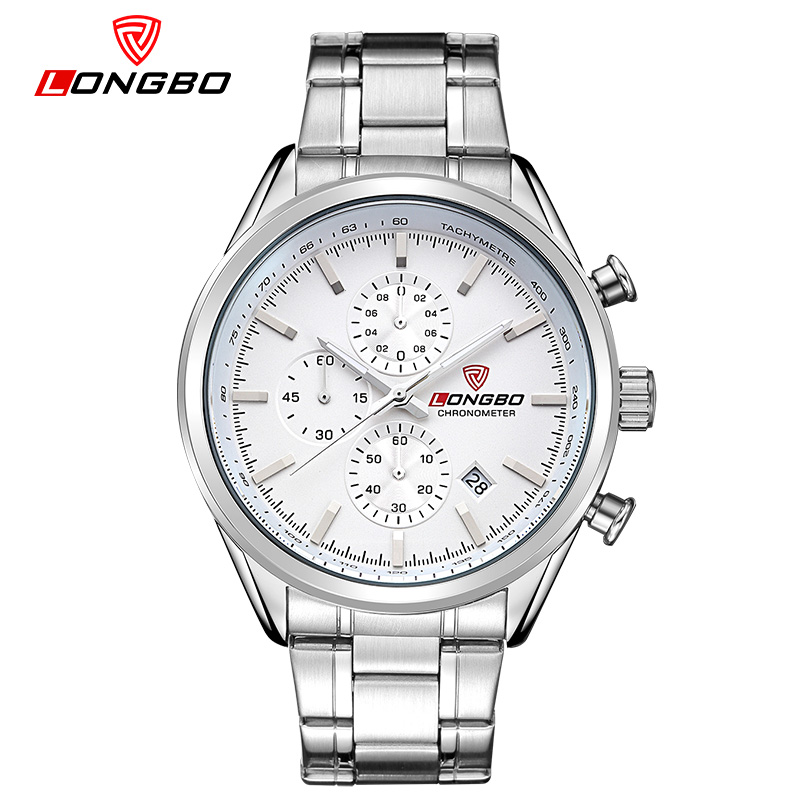 New LongBo Men's Watches fashion Top Brand Luxury Men casual Sport Wristwatch Chronograph waterproof business student gift saat
