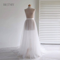 BRITNRY 2018 Simple Wedding Dress Cheap Tulle Two Layer Skirt for Wedding Evening Party