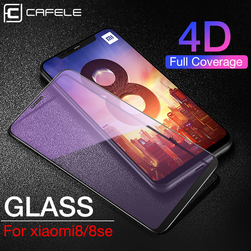 CAFELE 4D Full Coverage Screen Protector For Xiaomi Mi8 Se Mi 9 A2 Redmi Note7 Tempered Glass 9H HD Clear Anti Scratch