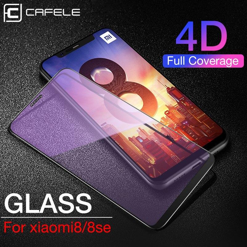 CAFELE 4D Full Coverage Screen Protector For Xiaomi Mi8 Se Mi 9 A2 Redmi Note7 K20 Pro Tempered Glass 9H HD Clear Anti Scratch