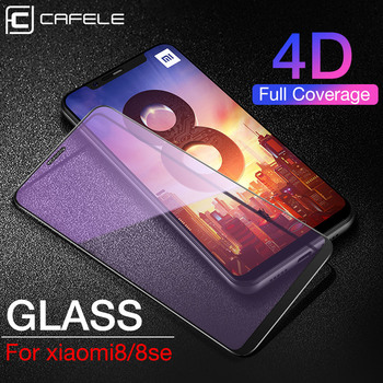 CAFELE 4D Full Coverage Screen Protector for Xiaomi Mi 10 pro 8 Tempered Glass 9H HD Clear Anti Scratch Protective Film