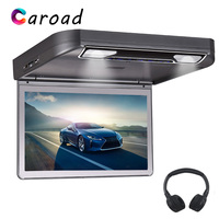DVD Player 13.3 Inch HD 1080P TFT Wide Digital Screen Flip Down Car Monitor Roof With USB SD HDMI MP5 IR/FM Transmitter Car TV