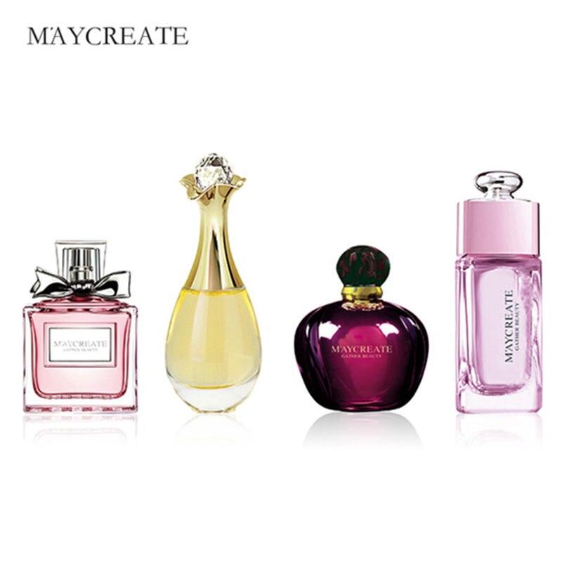 Maycreate 4 pçs 100 ml mulher desodorante fragrância de longa duração elegante refrescante água aromática