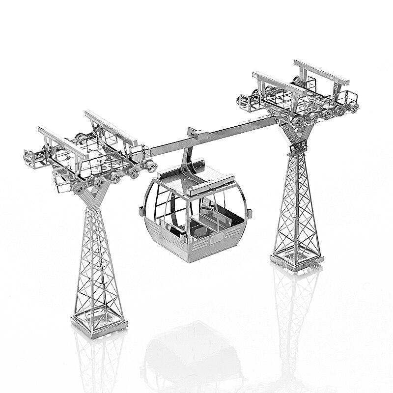 Nouveau Câble De Voiture DIY 3D Métal Puzzle Assemblé En Métal de Puzzle Enfants Jouets Éducatifs Enfants Meilleur Cadeau De Noël