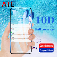 10D Curved Edge Full Cover Protective Glass On The For iPhone 7 8 6 6S Plus Tempered Screen Protector For X XR XS Max Glass Film