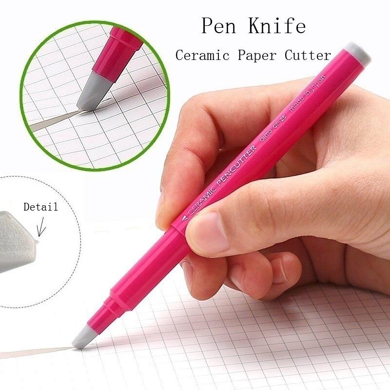 Fromthenon japon créatif papier stylo couteau résistant à l'usure journal main livre papier Cutter bande en céramique lame coupe couteaux 13cm