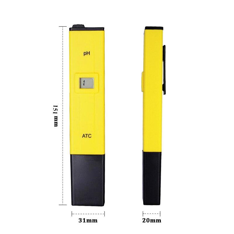 Digital PH Tester del Tester Tascabile Acquario Della Penna di Precisione  0.1 Piscina di Acqua Penna Digitale PH del Tester del tester con ATC 21% di  sconto ... aaf0e024a68f5
