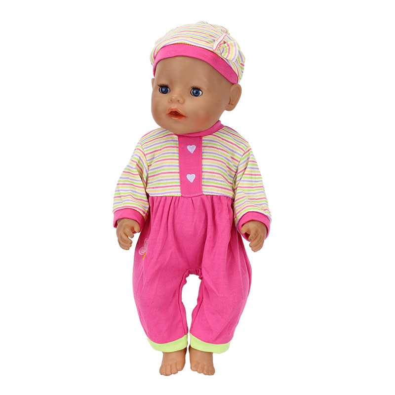 Fashion-Dolls-Jump-Suits-With-The-Hat-Fit-For-43cm-Baby-Born-Zapf-Doll-Reborn-Baby-Clothes-17inch-Doll-Accessories-4