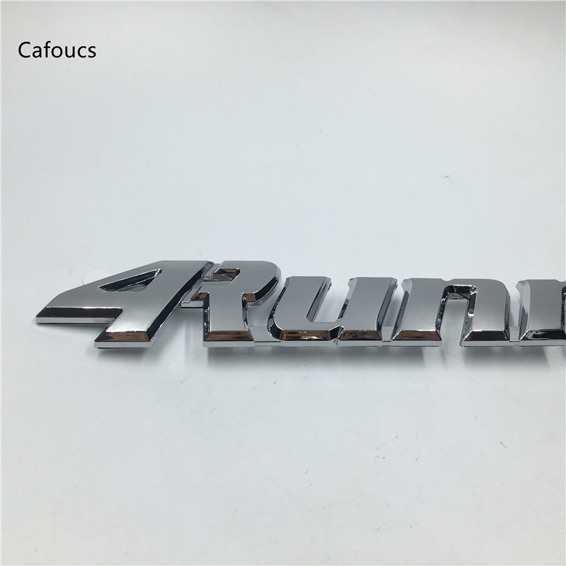 Cafoucs Car styling for Toyota 4Runner Emblem Rear Trunk Tailgate logo Decals Side fender Stickers emblem