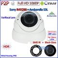 1080P IP CCTV 2.0MP ONVIF 2.4 SONY IMX322 Camera IP P2P Night Vision IP camera PoE with IR-CUT, H.264, 2.8-12mm 3MP HD Lens, WDR