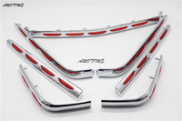 Motorcycle Chrome Fairing Saddlebag Light Accents Fit Honda Goldwing 1800 GL1800 2001 2011 02 03 04