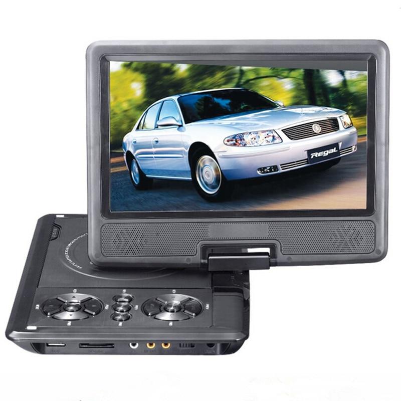 ФОТО LONPOO 9 inch Portable DVD Player EVD Swivel Screen USB SD Card Earphone TV FM Rechargeable Battery VCD CD MP3 MP4 DVD Player