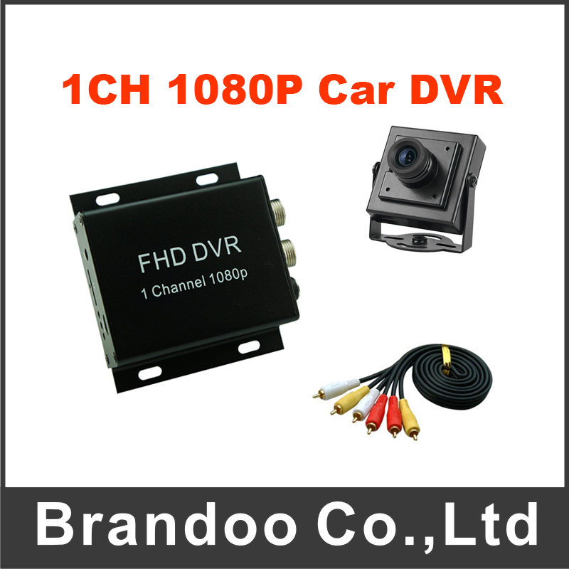 Free Shipping 1CH 1080P Mini Mobile DVR Portable Car DVR Kit Including Car Camera  For Taxi Vans 1ch mini camera kit mini dvr kit wd model portable mini cctv surveillance 32g tf card dvr mini camera car dvr 8pcs 940nm leds