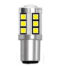 1 adet 2019 yeni 1157 P21/5W BAY15D 3030 LED araç kuyruk fren lambaları dönüş sinyalleri otomatik park lambaları DRL ampuller kırmızı beyaz Amber sarı