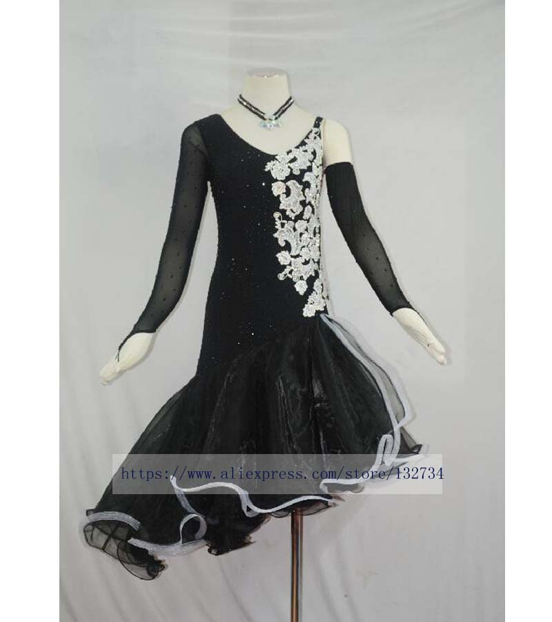 Sex Women Lady Latin Dance Dress Tassel Colors Vestidos -2576