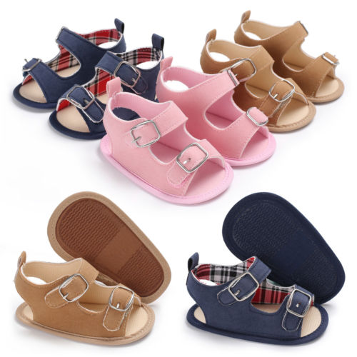 Classic Baby Boys Girl Summer Sandal Shoes Baby Shoes Toddler Shoes Blue Brown Pink