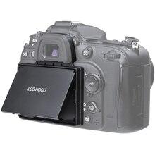 2in1 LCD ekran koruyucu Pop up Sun Shade Hood kapak için Nikon D7100 D7200