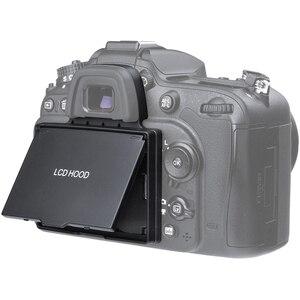 Image 1 - 2in1 LCD ekran koruyucu Pop up Sun Shade Hood kapak için Nikon D7100 D7200
