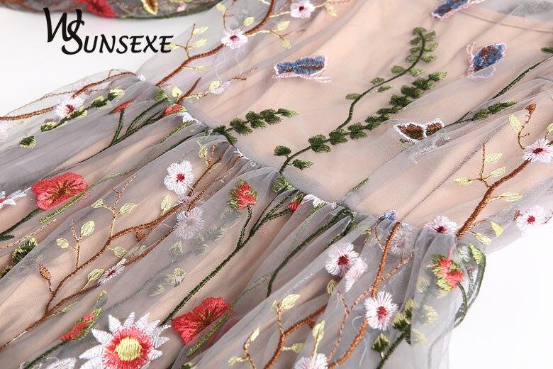 Runway ნაქარგი კაბები ქალები - ქალის ტანსაცმელი - ფოტო 3