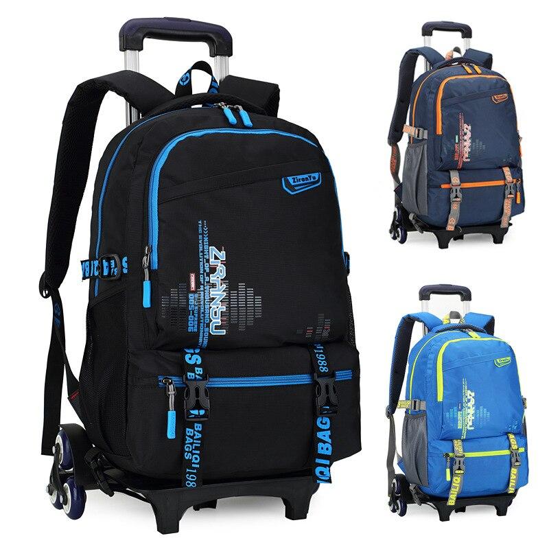 2019 enfants école haute qualité étanche voyage chariot sac à dos 3 roues sacs à main sacs grande capacité Trolley sacs