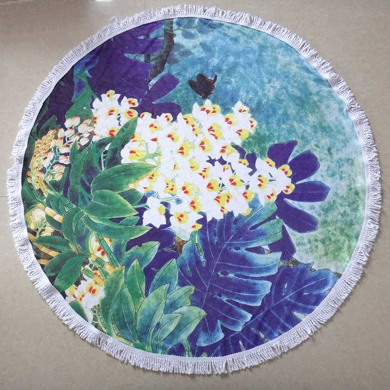 116a798e568 ... Large Microfiber Round Beach Towels /150cm Diameter With Tassels  Sunbath beach Towels/ Lady toallas ...