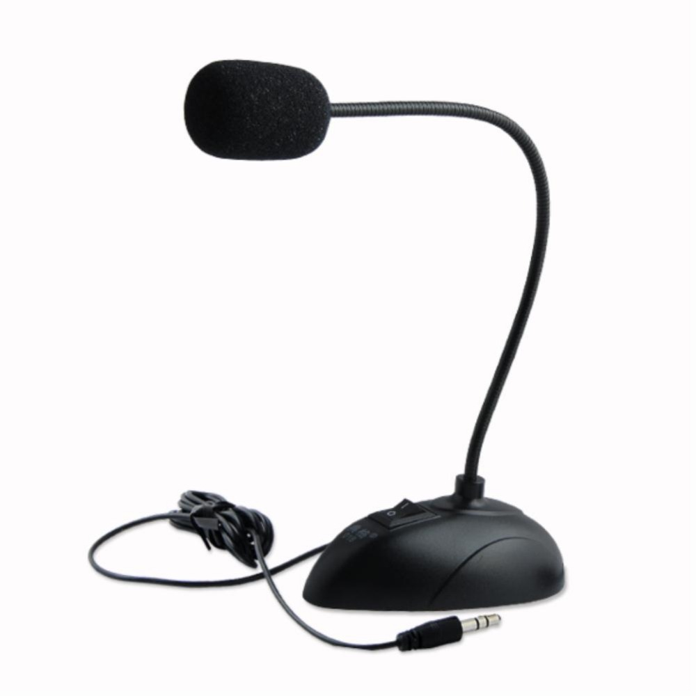 Desktop Wired Microphone with Adjustable Computer Desk Stand PC Laptop Mic Gooseneck MIC 3.5mm plug high quality Головная гарнитура