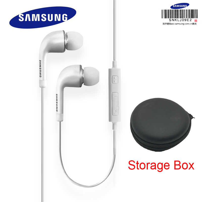 Słuchawki douszne SAMSUNG EHS64 z wbudowany mikrofon 3.5mm douszne słuchawki przewodowe do smartfonów/komputerów oficjalny Test