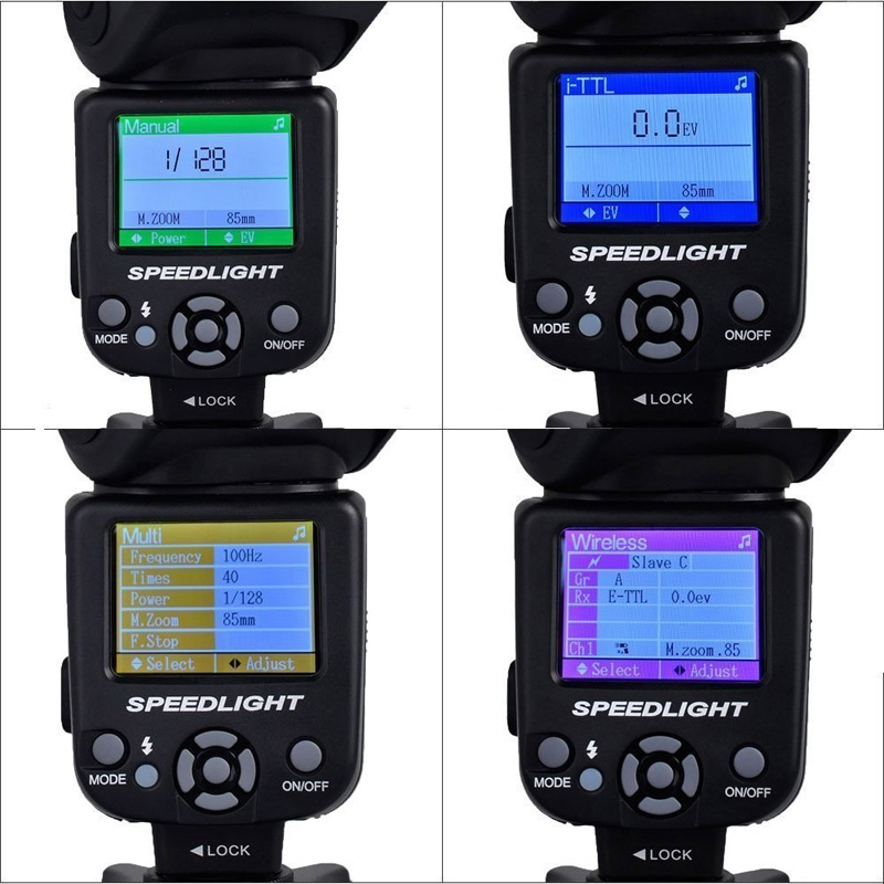 TRIOPO TR-985 флэш-скорость lite для Canon Nikon камера TTL вспышка для камеры высокая скорость синхронизации TFT цветной дисплей скорость lite освещение