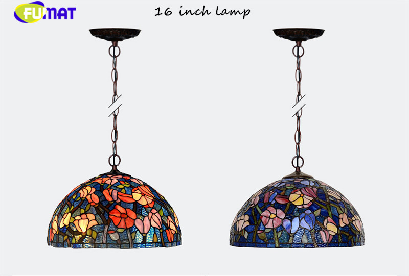 17Tiffany bombax Stained Glass Pendant Lamps