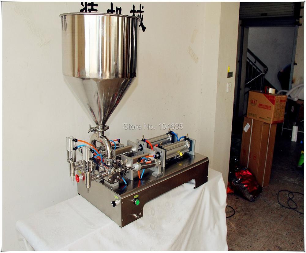 Пневматические Жидкости Шампунь Разливочная Машина Полуавтоматическая Двойной Головкой Пневматический Жидкий Шампунь наполнения Пасты машина автоматический наполнитель