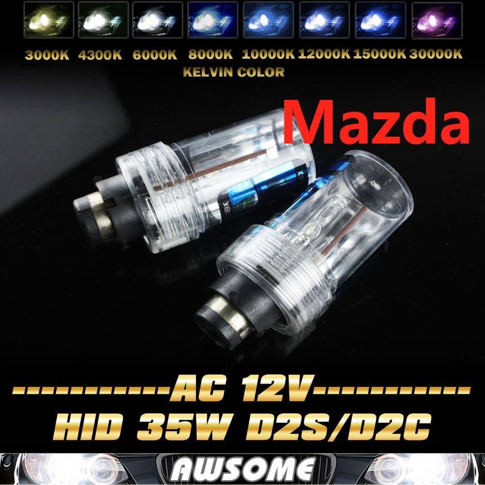 Pair D2/D2S/D2C 35W HID Headlight Xenon Bulb D2S/C 4300K 5000K 6000K 8000K 12000K 15000K For 3 5 6 CX-7 CX-9 RX-8 MX-5 Miata