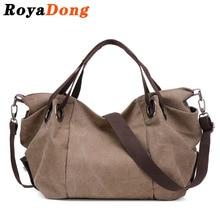 Royadong женщины сумка crossbody сумка для женщин большой tote холст сумки старинные цвет 2017 высокое качество женщин сумки