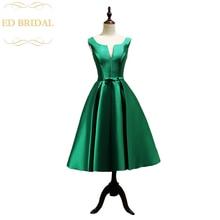 Une ligne Mikado Satin thé longueur robe de soirée courte femmes robe formelle occasion spéciale robe formelle robe de soirée