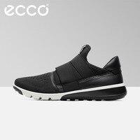 Роскошный бренд Ecco Мужская сетчатая повседневная обувь удобные кроссовки 2019 г. Новые летние модные дышащие низкие уличные мужские туфли 39 44