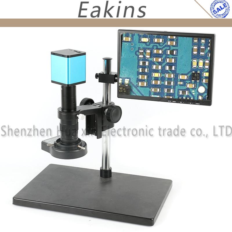1080 P 60FPS SONY CAPTEUR IXM290 HDMI L'industrie Mise Au Point Automatique Vidéo Microscope Caméra + 180X C-Monture + 10.1 moniteur Pour PCB Réparation