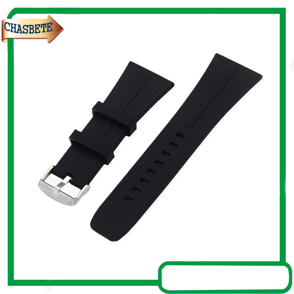 Silicone Rubber Watch Band Universal Watchband 30mm Pin Buckle Resin Strap Belt Wrist Loop Bracelet Black + Tool + Spring Bar silicone rubber watch band for breitling 20mm 22mm 24mm men women resin strap belt wrist loop bracelet black spring bar tool