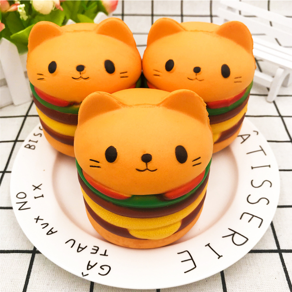Cute Cake Squish Antistress Slow Rising French Fries Soft Ice Cream Squeeze Toys for Children Squishy Toys Food