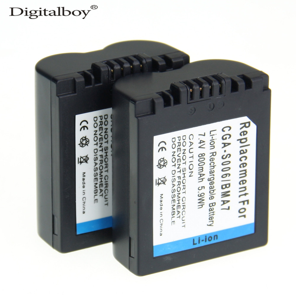 DigitalBoy 2PCS CGA-S006E CGRS006A CGR-S006E CGR-S006A/1B BP-DC5U Camera Battery For PAN ...