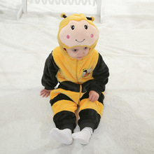 Yellow Bee Bodyuit Cartoon Newborn Baby Boy Romper Infant