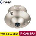 POE 720 P Cúpula UFO Ascensor Función de Gran Angular de 2.5mm mini cámara IP P2P cámara Ascensor de Seguridad de Metal POE cámara