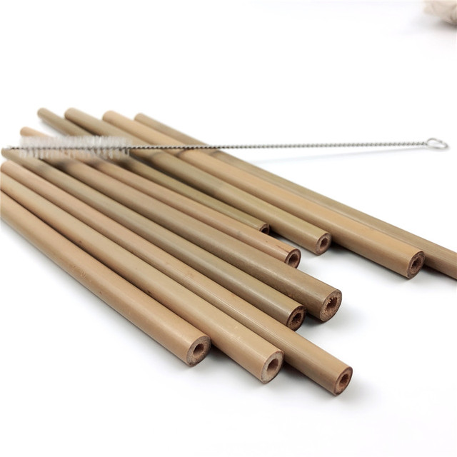 Reusable Organic Bamboo Drinking Straws
