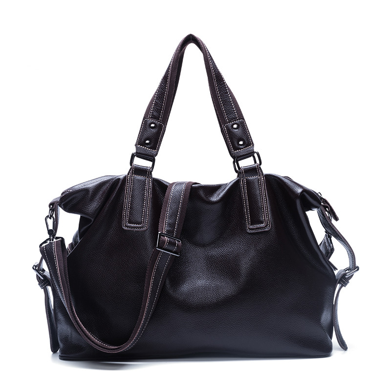 Bag Travel-Bags Handbag Vintage Fashion Casual Men 44cm First-Layer Big-Volume Korean-Style
