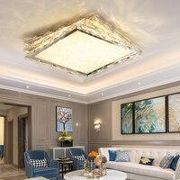 Creative Modern LED crystal Ceiling Lights Minimalist LED RGB color changing lighting living room bedroom square ceiling lights
